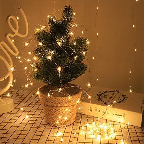 Amazon Control Remoto USB Luz de Alambre de Cobre LED de bajo Voltaje Impermeable Luz de Navidad Luz de Estrella