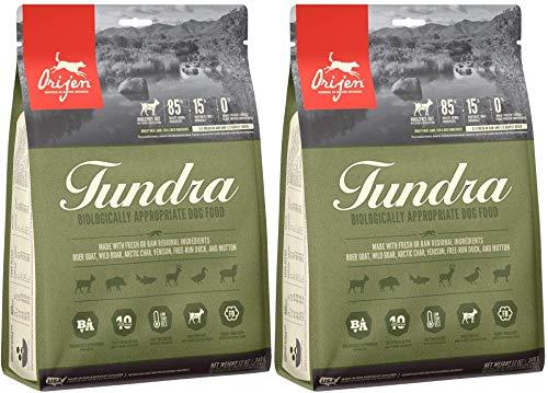 Orijen 2 Pack of Tundra Dog Food, 12 Ounces Each, Grain-Free Kibble Made in The USA