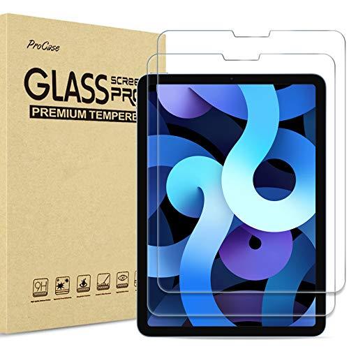[2 Stück] ProCase Panzerglas Displayschutzfolie für iPad Air 4 Generation 10.9 Zoll 2020, Schutzfolio Screen Protector, Schutzglas -Klar