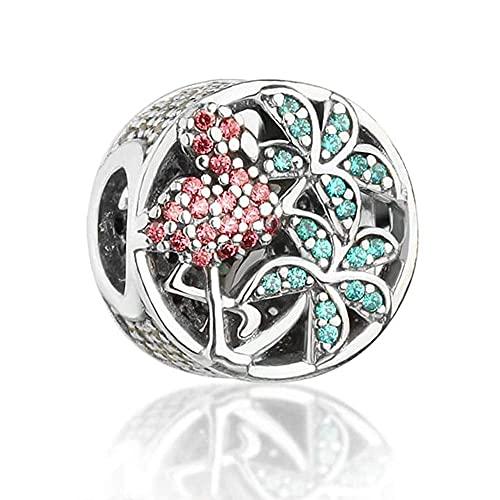 Gflyme 2021 colección de verano tropical flamenco encanto perlas auténtica plata de ley 925 DIY se adapta a pulseras Pandora joyería