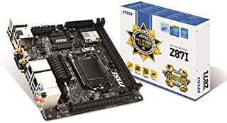 MSI Z87I Intel LGA1150 Z87 Mini-ITX Motherboard (2X DDR3, 6X USB3.0, 4X USB 2, E-LAN, DP, HDMI, DVI)
