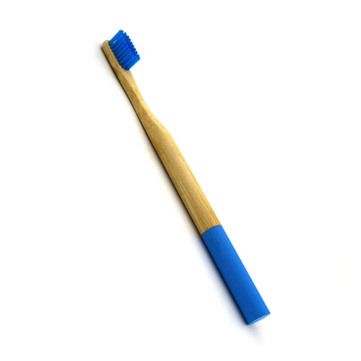 引き出すゲートウェイクレタROSENICE 竹歯ブラシラウンドハンドル自然な竹成人環境にやさしいソフトブリストル旅行歯ブラシ