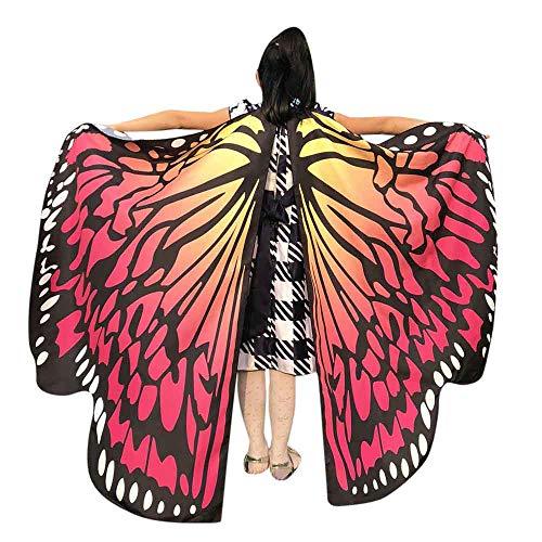 MIRRAY Karneval Kostüme Kind Baby Mädchen Schmetterlingsflügel Schal Schals Nymphe Pixie Poncho Kostüm Zubehör Wassermelone