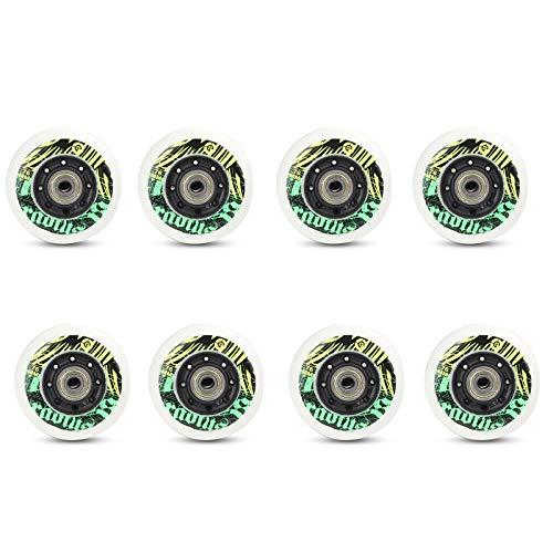 Inline Skate Ersatz Rollen mit Lagern 72 Mm 76 Mm 80 Mm 90A PU Rollen mit Hohem Rückprall76mm