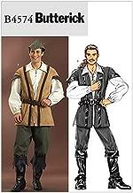 Butterick B4574 Men's Medieval Outlaw Renaissance Fair Costume Sewing Pattern, Sizes S-L