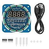 Haiyemao Álbum Infantil Kit De Reloj - DIY DS1302 Juego De Reloj Electrónico Digital con Luz LED 51 MCU Kit De Inicio De Aprendizaje Álbum de Fotos Adecuado para Bodas, Especial para