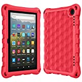 All New Tablet 8 inch Case for Kids Ubearkk Light Weight Kids Friendly Case Only Compatible with 10th Generation, 2020 Release, Red