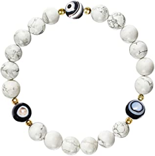 L&C Feng Shui Black Obsidian Beaded Bracelet - Women Mens 8MM Evil Eye Original Natural Crystal Onyx Relief Reiki Healing ...