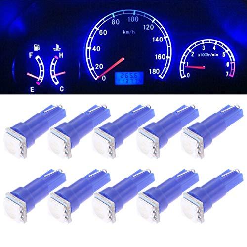 LEORX 5050 SMD T5 Cuña Panel LED Luz Bombillas - 10pcs (Azul)