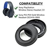 Almohadillas de repuesto para auriculares Sony PS3 PS4, auriculares inalámbricos Playstation 3 Playstation 4 estéreo 7.1 Virtual Surround