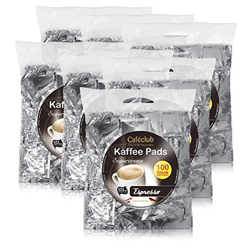 7x Cafeclub Espresso Kaffeepads Megabeutel je 100 stk. dunkle Röstung einzeln verpackt
