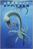 HDシアトルワシントン-プレシオサウルス恐竜(52*38成人向けプレミアム500ピースジグソーパズル、アメリカ製!)