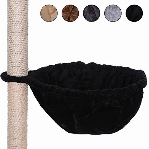 dibea Liegemulde für Kratzbäume, Schlafsack für Katzen, extra tief, besonders robust (30 cm, schwarz)