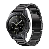 Fintie Correa Compatible con Samsung Galaxy Watch 3 (41mm)/Galaxy Watch Active2/Active/Galaxy Watch 42mm/Gear Sport/Gear S2 Classic - Pulsera de Repuesto de Acero Inoxidable, Negro