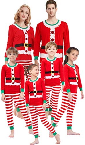 Matching Family Christmas Pajamas For Women Girls Boys Striped Pjs Kids Elf Sleepwear Children Clothes Men XXL