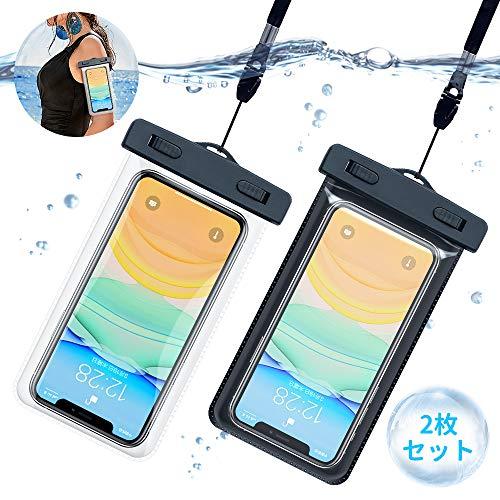 防水ケース 2PACK スマホ防水ケース スマホ用 完全防水 IPX8認定 スマホ 携帯 タッチ可 …