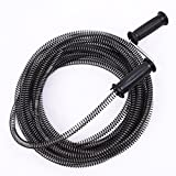 NUZAMAS Drain Cleaner Augers Spring Cable 10M (32ft) 13mm for Household Kitchen Bathroom Toilet Plumber Plumbing Snake Pipe Pipeline Sewer Cleaner with Extra Strong Handle