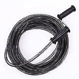 NUZAMAS Cable de resorte de 10 m, 13 mm, para el hogar, cocina, baño, inodoro, fontanería,...