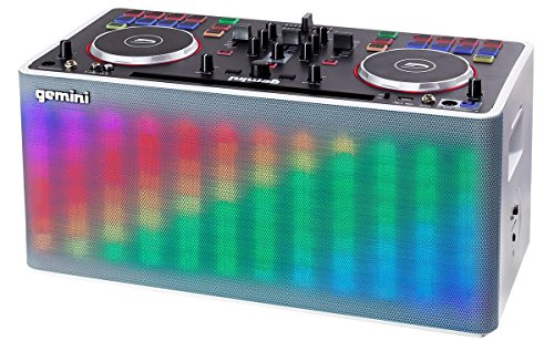Gemini MIX2GO - Mobile DJ Mixing Console mit Bluetooth-Streaming, Akku und Lichtshow