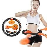 BAITENG Hula-Hoop Intelligente Fitness Smart Fitness Circle con Display A LED Staccabile Portatile Conteggio Cerchio Multifunzionale per Perdita di Peso Esercizio Cerchio