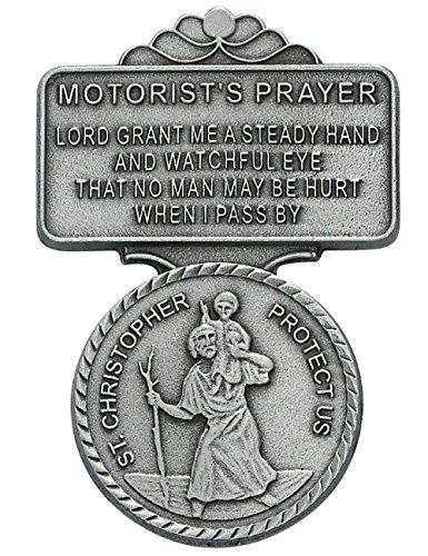 All Patron Saints St Christopher Motorist Prayer Auto Visor Clip