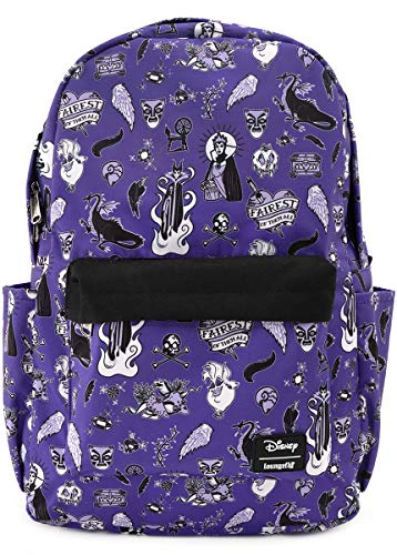 Loungefly x Disney Villain Icons Allover-Print Nylon Backpack