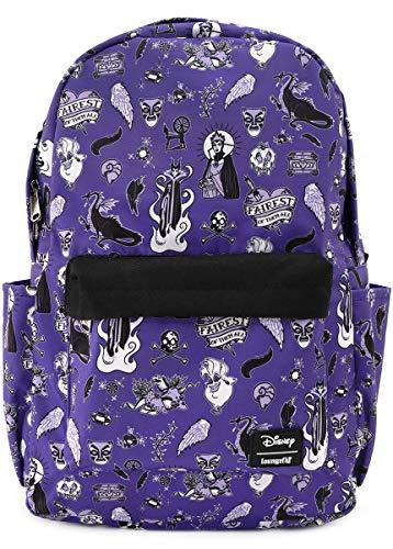 Disney Villains Loungefly - Villain Icons Unisex Mini Backpacks Lilac, Nylon,