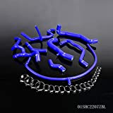 Silicone Radiator Coolant Hose Kit Clamps Compatible For VW Volkswagen Golf MK3 VR6 2.8 2.9 1994 1995 1996 1997 1998 Blue