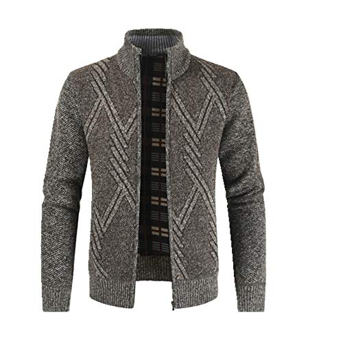 N\P Otoño Invierno Mens Suéter Casual Stand Collar Grueso Cardigan Hombres Caliente Suéter Abrigos Hombres