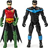 BATMAN, 4-Inch ROBIN and NIGHTWING Action Figures with 6 Mystery Accessories