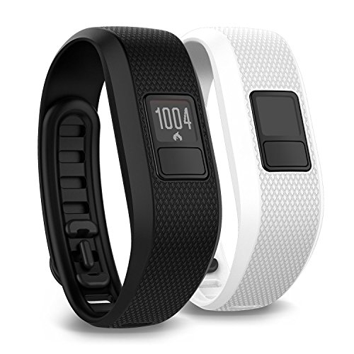 Garmin vivofit 3 Activity Tracker, Regular fit - Black - W/Additional White Accessory Band