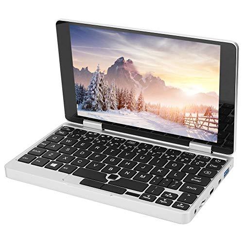 Goshyda Ordenador portátil de Bolsillo, Pantalla IPS táctil Full HD de 7 '' 8G + 256G Ordenador portátil con Pantalla de rotación de 360 ° y lápiz óptico y Ventilador de refrigeración Activo(EU)