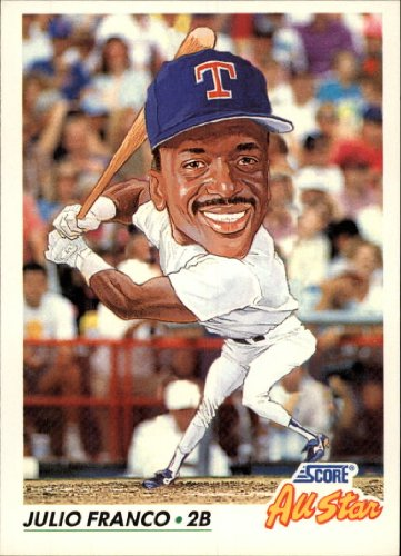 1992 Score Baseball Card #432 Julio Franco