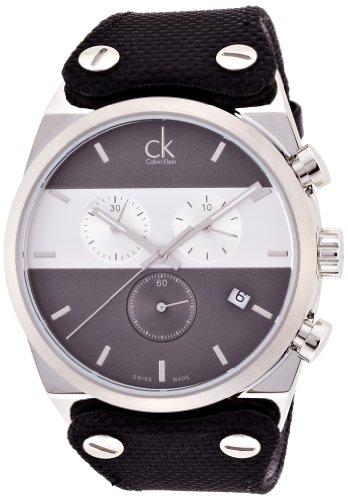 Calvin Klein-Reloj de Pulsera Hombre cronógrafo Cuarzo Caucho K4B371B3