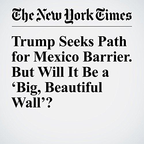 Trump Seeks Path for Mexico Barrier. But Will It Be a 'Big, Beautiful Wall'? cover art