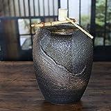 信楽焼 涼 湧き水つくばい 電動つくばい つくばい 陶器かけひ 蹲 循環式つくばい ウォーターオブジェ dt-0043