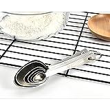 QingH yy Measuring Cup 6 Conjuntos De Piezas De Medición De Cucharas For Cocinar, Condimentos Cuchara De Acero Inoxidable Medidas De Cucharas Kitchen Aid Pasta 0410