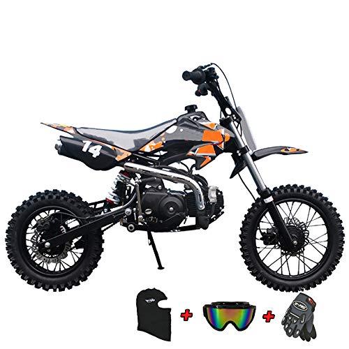 X-PRO 110cc Dirt Bike Pit Bike Kids Dirt Pitbike 110 Dirt Pit Bike (Orange)