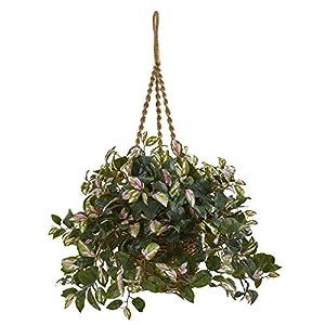 Nearly Natural Hoya Artificial Plant Hanging Basket