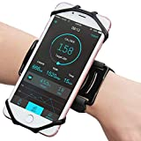 Matone Wristband for iPhone X/8/8 Plus/7/7 Plus/6/6S Plus, 180° Rotatable Phone Holder Forearm Armband Ideal for Jogging Running Compatible with Samsung Galaxy S8/S7 & 4.0'-6.5' Smartphone (Black)