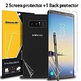 GOBUKEE (3er Pack Samsung Galaxy Note8 Displayschutzfolie Einfach zu installierende Anti-Shock GO-Flex Flexible TPU Film Galaxy Note 8 Displayschutzfolie [Nicht gehärtetes Glas]