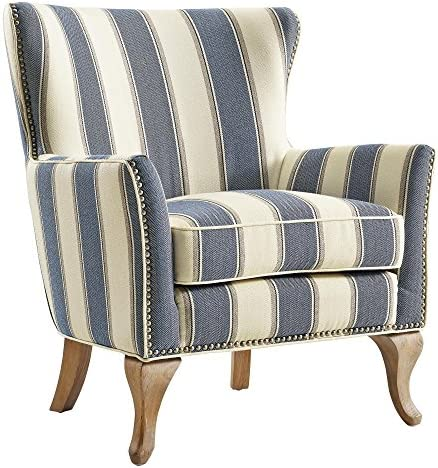 Best Dorel Living Reva Accent Chair, Blue
