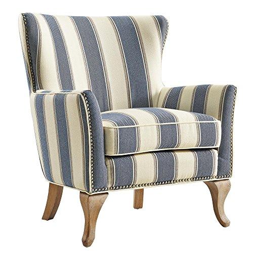 Dorel Living Reva Accent Chair, Blue