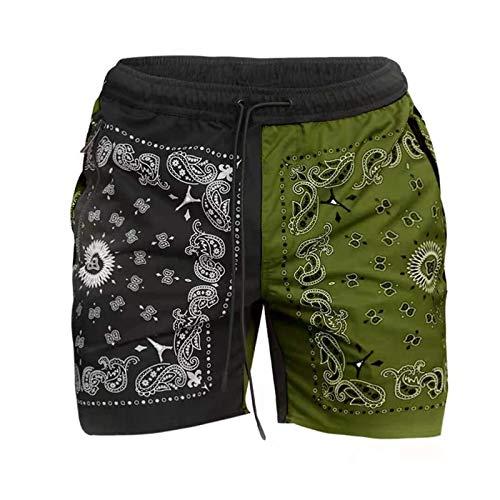 Pantalones Cortos de Basculador para Hombre Color de Moda a Juego Pantalones de Baloncesto Casuales Sueltos para Correr en la Calle Principal Europea y Americana Verano para Correr al Aire Libre XL