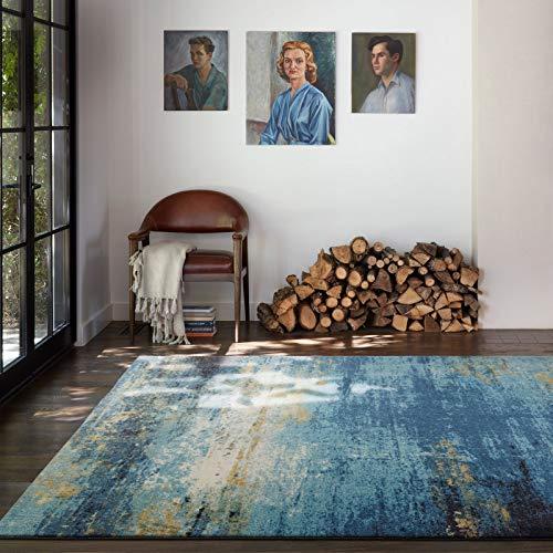 Taleta Designer Tappeto Soggiorno Moderno Astratto Pelo Corto Denaro Blu 160x230cm