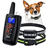 Elvana Dog Training Collar with Remote Rechargeable Shock Collar for Dogs wiith Beep, Vibration and...