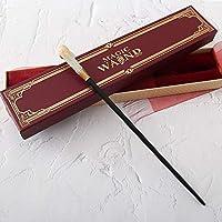 """ハリーポッターワンド14""""ワンド、レプリカワンドボックス、スペルリストハロウィーンとクリスマスの小道具グッドギフト、ハリーポッターフィルムセット映画小道具ワンド。,赤"""