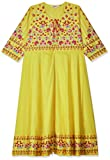 BIBA Women's cotton anarkali Kurta (POTTERY 1585542_ Yellow_ 2XL (42))