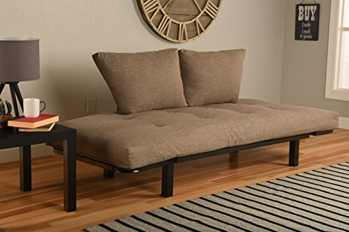 Kodiak Best Futon Lounger - Mattress ONLY - Sit Lounge Sleep - Small Furniture for College Dorm, Bedroom Studio Apartment Guest Room Covered Patio Porch (TAN Stone Linen)