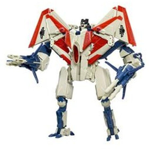 Hasbro Year 2007 Transformers Automorph Technology Movie Series Voyager Class 8 Inch Tall Robot Action Figure - Decepticon STARSCREAM with Exclusive G1 Deco, Missile Launchers and 6 Missiles (Vehicle Mode : F-22 Raptor Jet)